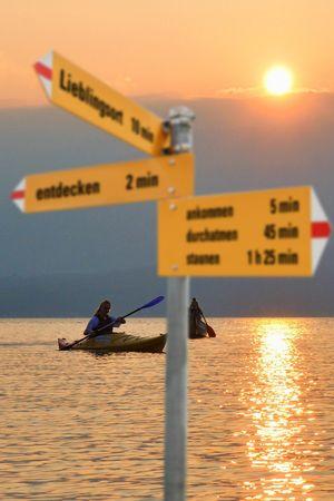 Abendrundfahrt mit Kanu