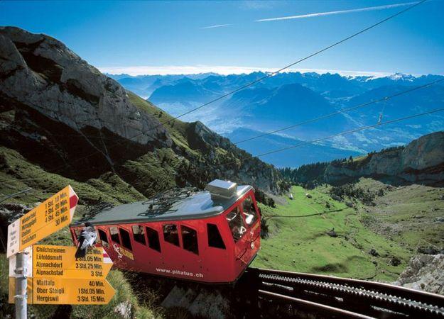 Pilatus Railway – the world's steepest cogwheel railway