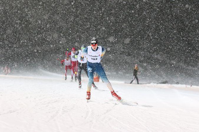 Ski jump track / night track