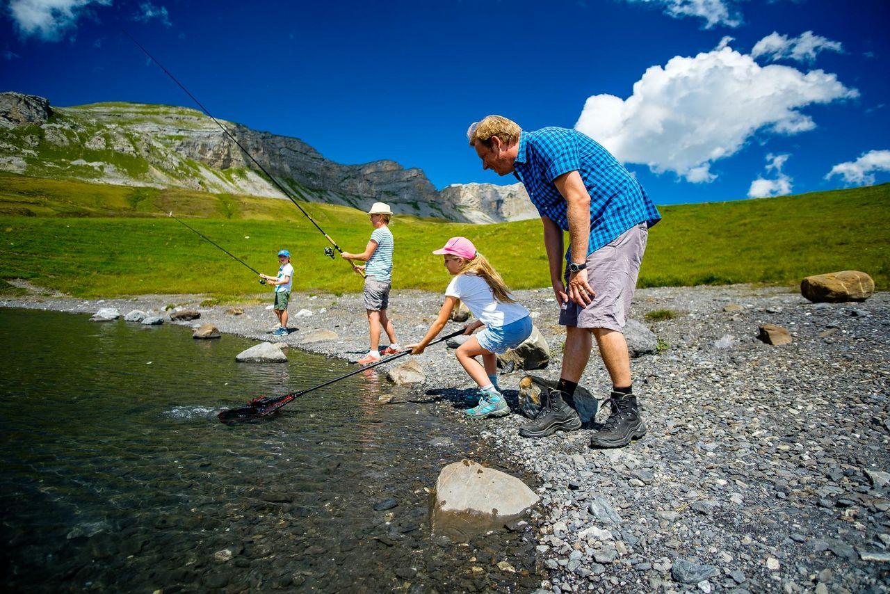 Fishing at Melchsee-Frutt