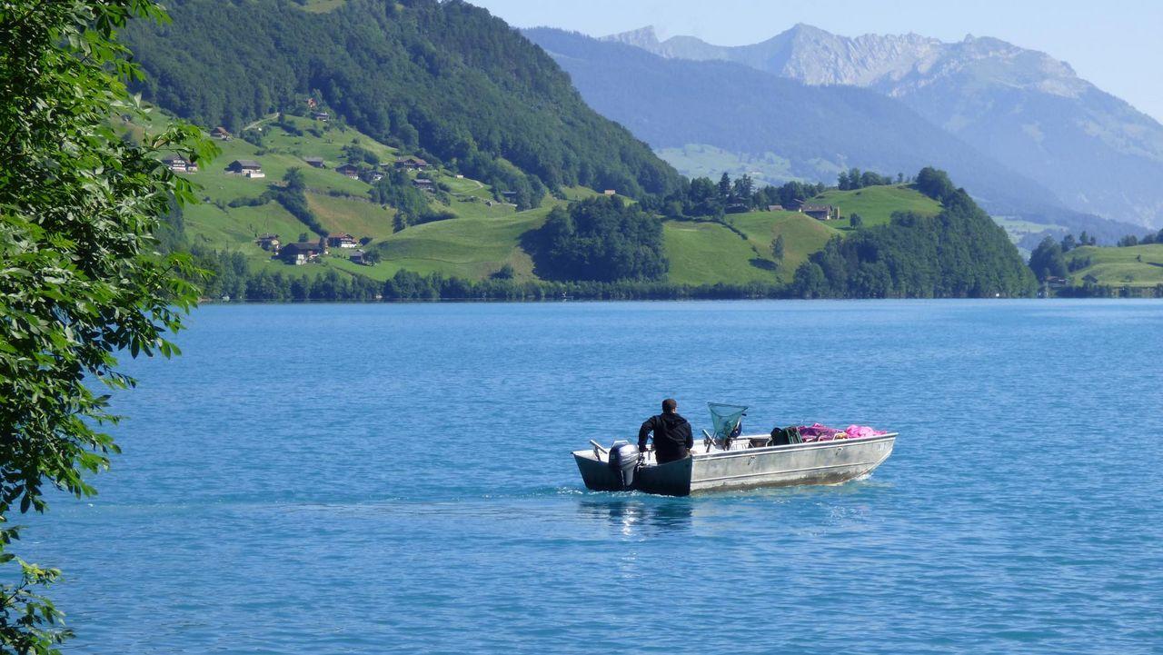Fishing in Lake Lungern