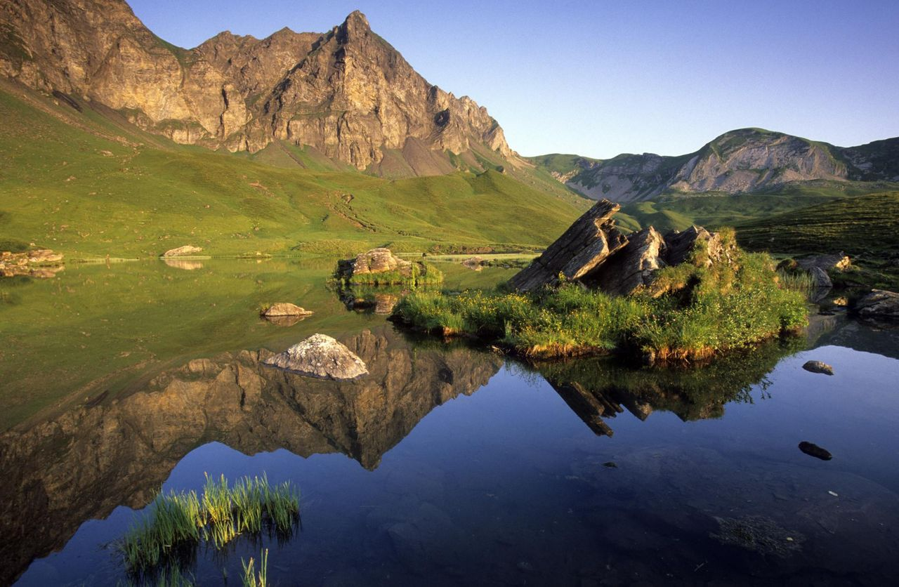 Lowland and mountain lakes