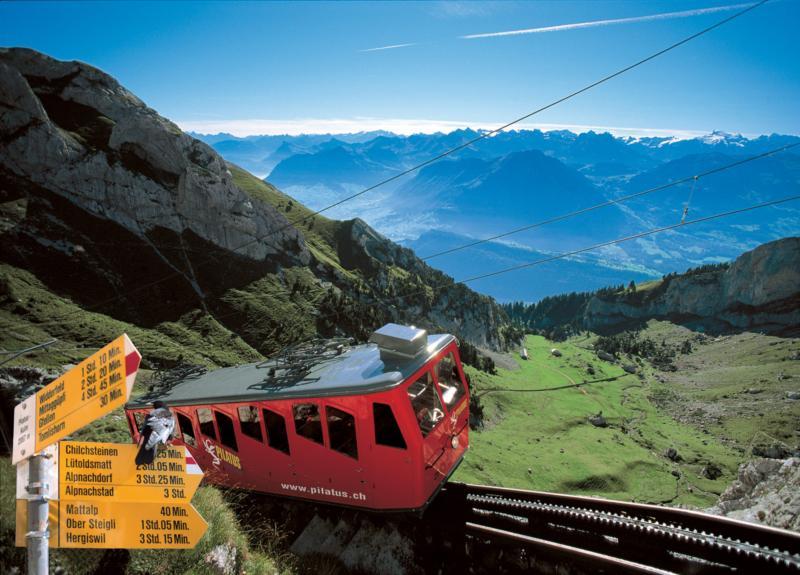 Pilatus Bahn - steilste Zahnradbahn der Welt
